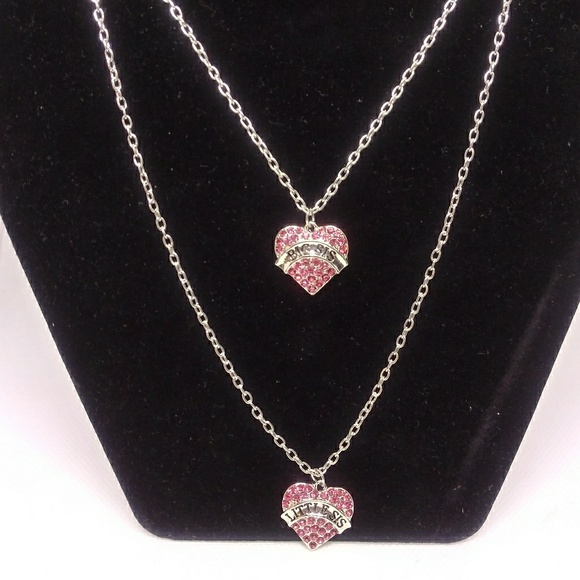 Jewelry - New Big sis & Lil sis heart necklace